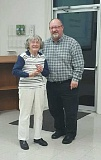 COURTESY PHOTO - Marion Steinbach received her Banks Citizenship Award with Banks Mayor Pete Edison last month.