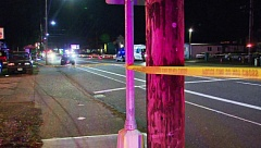 KOIN 6 NEWS - Police tape marks the scene of one of two fatal crashes on Southeast Divsion Strreet on Dec. 7.