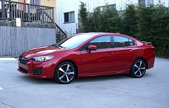 PORTLAND TRIBUNE: JEFF ZURSCHMIEDE - The 2017 Subaru Impreza is available as a good looking sedan. All versions come with still come standard with the company's all-wheel-drive system, a plus for the Pacific Northwest.