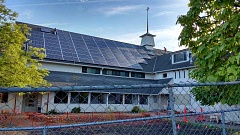 SUBMITTED PHOTO - St Luke's solar panel installation was recently completed along the south-facing side of the church's slanted roof.