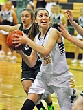 TIDINGS FILE PHOTO - West Linn's Daria Ruediger and the Lions — as well as the Lakeridge girls basketball team — open Three Rivers League play tonight (Tuesday, Dec. 13), with the Lions at Newberg and Lakeridge hosting Tualatin.