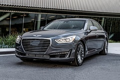 HYUNDAI MOTOR COMPANY - The Genesis G90 is a large and stylish full size sedan designed to compete against the best luxury cars in the world.
