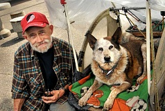 SPOKESMAN FILE PHOTO - Wilsonville rallied around Bill and his dog Red, when the companion needed surgery this summer.