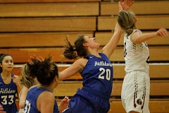 HILLSBORO TRIBUNE PHOTO: WADE EVANSON - Hilhi's Makenna Gambee and Glencoe's Abby Anderson fight for a rebound during the Tide's win.