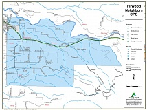 (Image is Clickable Link) CLACKAMAS COUNTY WEBSITE - The Firwood CPO's western-most boundary runs along Southeast Langensand Road, is capped off at the north by the Sandy River, runs as far south as Dover and cuts off in the east near East Wildcat Creek Road.