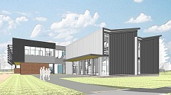 SUBMITTED ART - Rendering of CCCs new Industrial Technical Center bulding