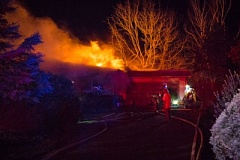 FILE PHOTO - A house fire in the 900 block of Northeast Halsey Street in Troutdale was one of two early-morning blazes fought by Gresham firefighters Thursday, Jan. 5.