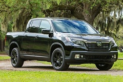 AMERICAN HONDA MOTOR COMPANY - The 2017 Honda Ridgeline has been completely redesigned with more conventional looks that are enchanced by the top=of-the-line Black Edition package.
