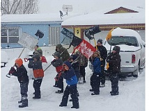 PHOTO COURTESY OF ROBERT FREEMAN  - Members of the Crook County 11U Travel Baseball Team shoveled snow off of 20 driveways in two days, collecting donations to help cover travel costs to upcoming tournaments.