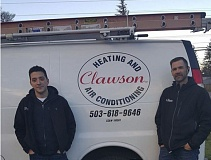 CONTRIBUTED PHOTO - Bemis made a call to Clawson Heating and Air Conditioning, and they responded within an hour to fix the furnace at no charge.