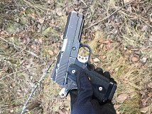 COURTESY PHOTO - This realistic-looking pellet gun could have evoked a severe response from officers who responded to a reported fight involving a gun.