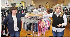 GARY ALLEN - Anita Winters-Herold (left) and Mary Wygal are the new owners of Pitter Patter in downtown Newberg on First Street. They also own several children's consignment stores under the Baby & Me name around the Portland area.