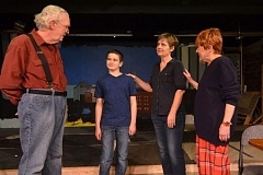 (Image is Clickable Link) CONTRIBUTED PHOTO - Norman Thayer, played by Jim Butterfield, meets his daughter's new stepson and his new grandson.