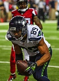 TRIBUNE PHOTO: MICHAEL WORKMAN - Seattle receiver Doug Baldwin gets into the end zone late in Saturday's game at Atlanta.