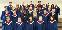 SUBMITTED PHOTO - Led by music teacher Cinda Reeve-Snyer, Alder Creek Middle School's advanced choir was invited to sing at the Oregon Music Educators conference this month.