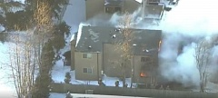 KOIN PHOTO - The fire destroyed eight apartments in the building.