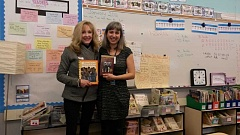SUBMITTED PHOTO - Betty Reynolds, left, takes a picture with Willow McCormick, the former Willamette Primary teacher who Reynolds credits with pushing her to run for the West Linn-Wilsonville School Board.