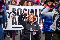 TRIBUNE PHOTO: DIEGO DIAZ - Women demonstrated Dec. 3 in downtown Portland during the Portland Women March Against Hate. This Saturday, tens of thousands from around the region are expected at the Women's March on Portland.