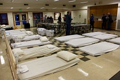 THE TIMES: MANDY FEDER-SAWYER - The severe weather shelter in Beaverton opened on Thursday, providing 30 beds and food to those in need.