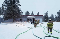 SUBMITTED PHOTO - Crooked River Ranch Fire and Rescue responded to a mobile home fire on Friday, which caused an estimated $20,000 damage to the building and contents.