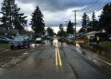 PORTLAND WATER BUREAU - A water main break happened at Southeast 69th Avenue and Duke Street on Sunday