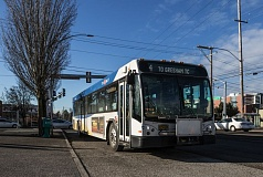 PORTLAND TRIBUNE: JONATHAN HOUSE - The No. 4 bus travels along Southeast Division Street to Gresham.