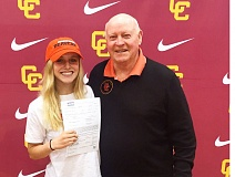 COURTESY: FELICIA ANDERSON - Oregon State swimmer Felicia Anderson of Portland is the granddaughter of Jimmy Anderson (right), who was a basketball player and coach for the Beavers.