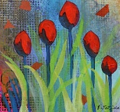 SUBMITTED PHOTO - 'Blood Red Tulips' by Karla Brittled, part of the Gresham Art Committee's forthcoming 'Red Show,' which will open Feb. 6 at Gresham City Hall.