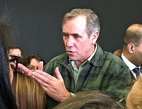 PHOTO BY PETER WONG - U.S. Sen. Jeff Merkley has led Senate opposition to several of President Trump's Cabinet nominees. He spoke Saturday at Tigard High School.
