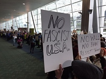 KOIN 6 NEWS - Protesters came to Portland International Airport on Sunday to rally against President Trump's immigration ban.