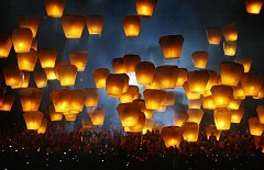 COURTESY PHOTO - Lighted lanterns are set aloft at a festival in Pingxi, Taiwan in 2007.