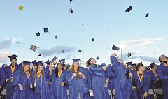 GRAPHIC FILE - The NHS graduation rate hit a low of 70.0 percent in 2013, falling from the previous high of 78.2 percent in 2012, but made steady gains the past three years and now sits at 79.3 percent.
