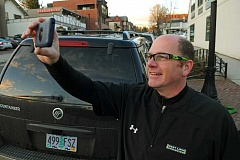 TIDINGS PHOTO: VERN UYETAKE - West Linn Police Sergeant Mike Francis started posting frequent video updates during the city's recent storm events, much to the delight of residents on social media.