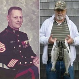 SUBMITTED PHOTOS - Jack McClelland in uniform, and a recent photo.