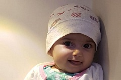 PHOTO COURTESY OF KOIN NEWS - Fatemah Taghizadeh, 4 months old, who needs cardiac surgery, will arrive shortly in Portland.