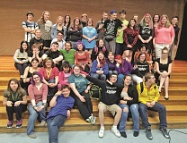 "SUBMITTED PHOTO - The Unified Theatre cast for Forest Grove High School's spring 2016 play ""This Is Home"" — which tackled the issue of homelessness — featured general education and special education students in acting roles side-by-side."