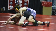 TIMES PHOTO: MATT SINGLEDECKER - Sunset wrestler Gavin Stockwell is one of the Apollos top competitors at the state and district level.