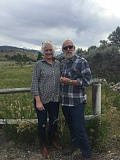 CONTRIBUTED PHOTO: JANE REID - Jane Reid and her husband Gary Warkentin are pictured in Wyoming. Reid and Warkentin have been married for 35 years.