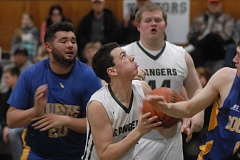 ESTACADA NEWS: MATT RAWLINGS - Lane Sittner looks to go up with the ball deep in the paint.