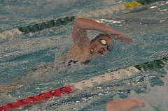 SPOKESMAN PHOTO: COREY BUCHANAN - Wilsonville swimmer Emily Nguyen is a part of the Wilsonville girls 400-yard relay team that won the district title.