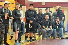 SPOTLIGHT PHOTO: JAKE MCNEAL - Lions senior Miguel Olmedo, center, won his first Northwest Oregon Conference heavyweight championship on Friday and Saturday, Feb. 10-11, at Milwaukie High School.