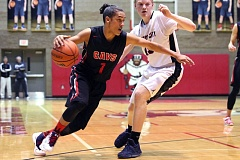 PMG PHOTO: JIM BESEDA - Clackamas guard Elijah Gonzales and the Cavaliers raced past Oregon City with a 66-54 win on Friday night at Oregon City High School.