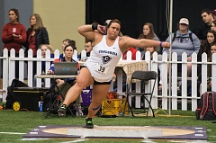 COURTESY: CHRISTOPHER OERTELL - McKenzie Warren of Concordia University has been named national track and field athlete of the week for women in NCAA Division II, after setting the D-II record in the shot put.