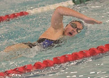 SPOKESMAN PHOTO: COREY BUCHANAN - Wilsonville swimmer Emily Nguyen placed second in the 500-yard freestyle and was a part of the 400-yard freestyle district championship team.