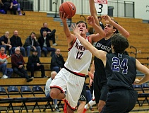 PMG PHOTO: MILES VANCE - Beaverton senior Hunter Sweet and the Beavers jumped into the top five in the latest Class 6A boys basketball coaches poll, landing at fourth with their 19-4 overall record.