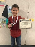 SUBMITTED PHOTO: COURTESY OF RIVER GROVE - Fourth-grader Kyle Farnsworth is the winner of both the Spelling Bee and Geo Bee at River Grove Elementary School.