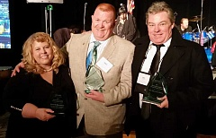 PHOTO BY BILL VOLLMER - From left, Jefferson County Emergency Medical Services Chief Liz Heckathorn and Assistant Chief Mike Lepin, and Lake Chinook Fire and Rescue Chief Don Colfels all received recognition Feb. 11, at the Special Districts Association of Oregon's annual banquet. Jefferson County programs took home three of the seven state awards.