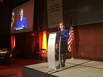 PARIS ACHEN/CAPITAL BUREAU - Gov. Kate Brown speaks at the Oregon Justice Reinvestment Summit Thursday, Feb. 16, at the Salem Convention Center.
