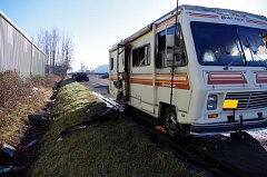 CONTRIBUTED PHOTO - An RV was destroyed around 8:30 a.m. on Monday, Feb. 13 in Troutdale.