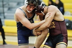 NEWS-TIMES PHOTO: WADE EVANSON - Forest Grove finished fourth at last weekend's district wrestling championships and qualified five for the state meet Feb. 24-25 at the Memorial Coliseum.